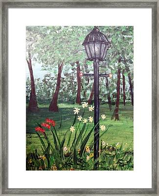 Framed Print featuring the painting Garden Light by Debbie Baker