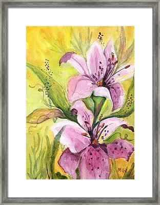 Garden Lilies Framed Print