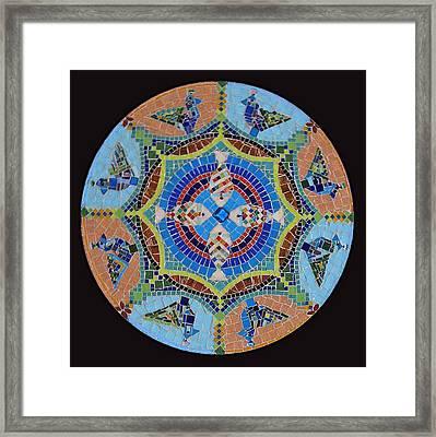 Garden Mandala  Framed Print