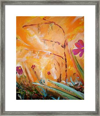 Framed Print featuring the painting Garden Moment by Winsome Gunning