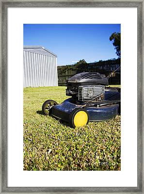 Garden Mower Framed Print by Jorgo Photography - Wall Art Gallery