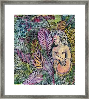 Garden Muse Framed Print by Mindy Newman