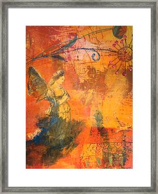 Garden Muse Framed Print by Suzanne Kfoury