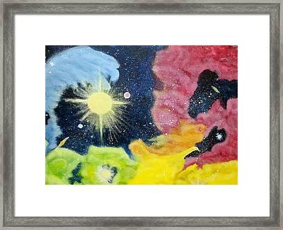 Garden Nebula Framed Print by Diana Robbins
