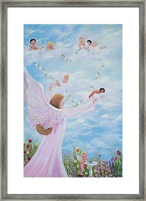Garden Of Angels Framed Print by Joni McPherson