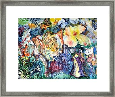 Garden Of Delights Framed Print by Mindy Newman