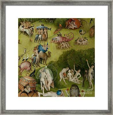 Garden Of Earthly Delights   Detail Framed Print by Hieronymus Bosch