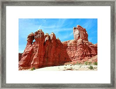 Garden Of Eden Arches National Park, Utah Usa Framed Print
