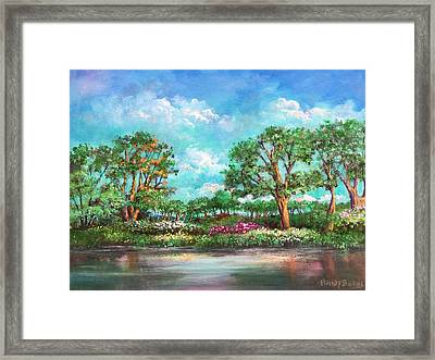 Framed Print featuring the painting  Summer In The Garden Of Eden by Randol Burns