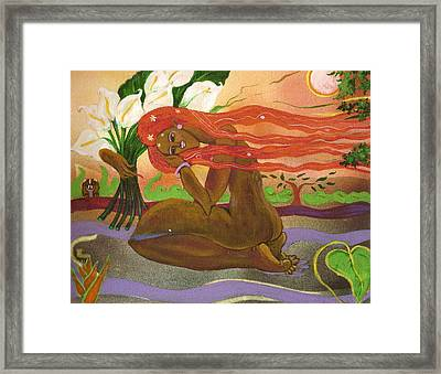 Garden Of Eden Framed Print by Lee Ransaw