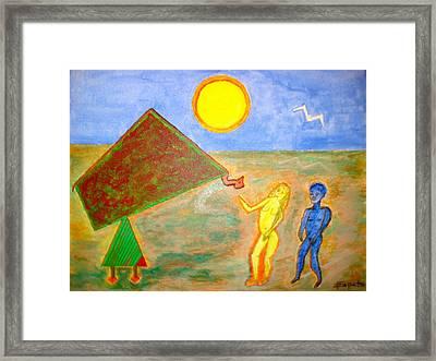 Garden Of Eden-seduction Framed Print