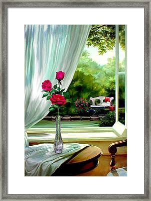 Garden Of Enchantment Framed Print by Ron Chambers