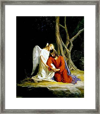 Garden Of Gethsemane 1873 Carl Heinrich Bloch  Framed Print by Movie Poster Prints
