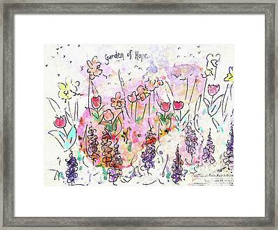 Framed Print featuring the painting Garden Of Hope  by Claire Bull