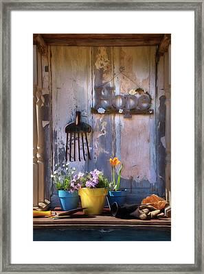 Garden Of Hope Framed Print by Lori Deiter