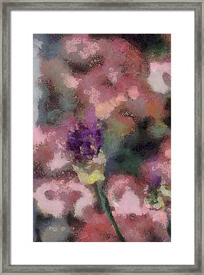 Framed Print featuring the mixed media Garden Of Love by Trish Tritz