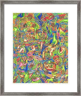 Garden Of Reflections Framed Print