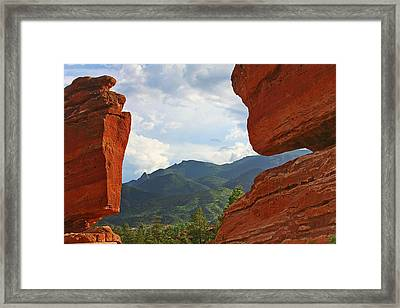 Garden Of The Gods - Colorado Springs Framed Print by Christine Till