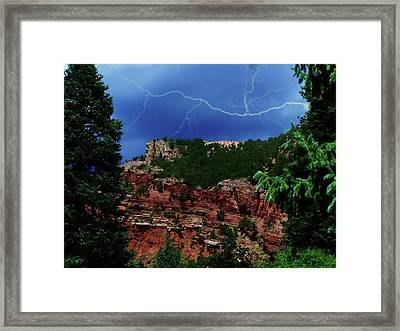 Framed Print featuring the digital art Garden Of The Gods by Chris Flees