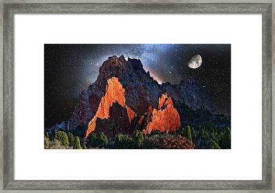 Garden Of The Gods Fantasy Art Framed Print by John Hoffman
