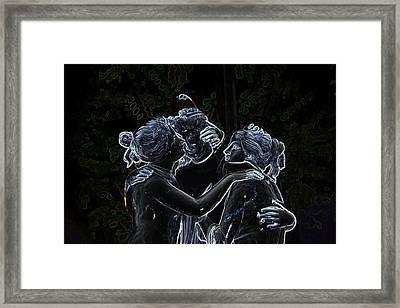 Garden Of The Neon Gods Framed Print