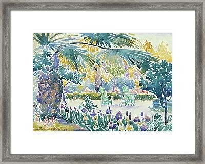 Garden Of The Painter At Saint Clair, 1908  Framed Print by Henri Edmond Cross