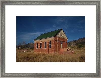 Garden Park School, Fremont County, Colorado Framed Print