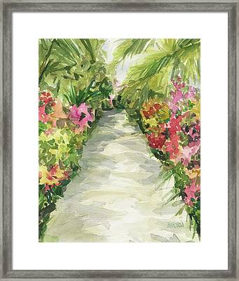 Garden Path New York Botanical Garden Orchid Show Framed Print