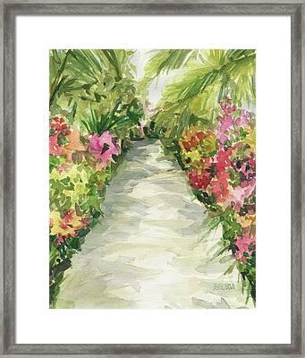 Garden Path New York Botanical Garden Orchid Show Framed Print by Beverly Brown