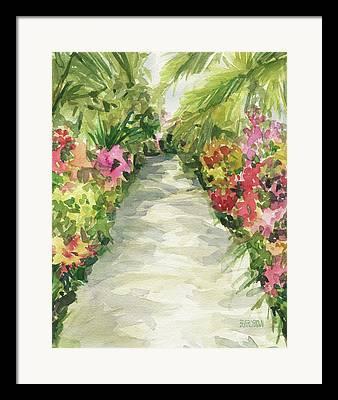 Orchid Show Framed Prints