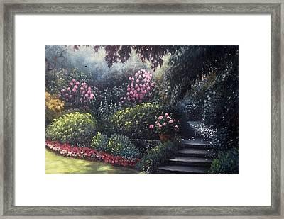 Garden Path Framed Print by Scott Jones