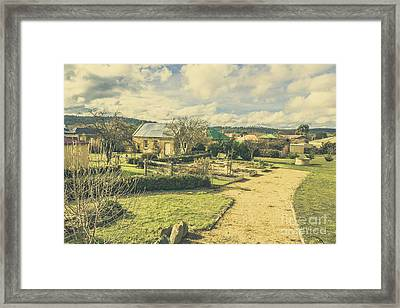 Garden Paths And Courtyards Framed Print