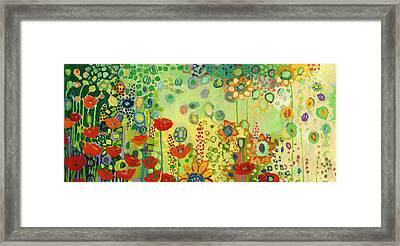 Garden Poetry Framed Print by Jennifer Lommers