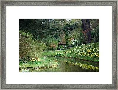 Garden Pond Framed Print