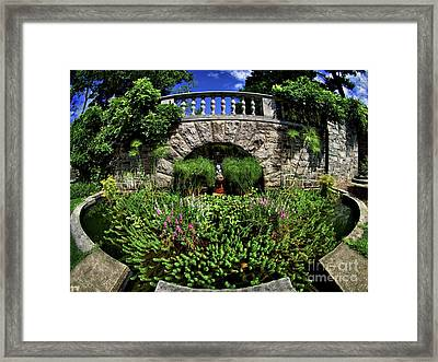 Framed Print featuring the photograph Garden Pond by Mark Miller