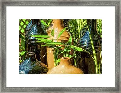 Garden Pottery Jugs Framed Print