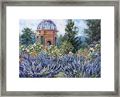 Garden Profusion - Lavendar Framed Print by L Diane Johnson