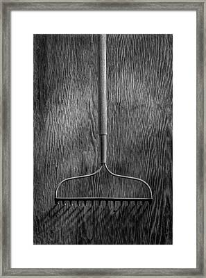 Garden Rake Down Framed Print by YoPedro
