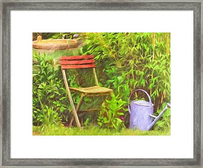 Garden Romance Framed Print