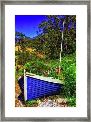 Garden Sailboat Framed Print