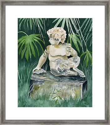 Garden Satyr Framed Print