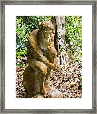 Garden Sculpture 3 Framed Print