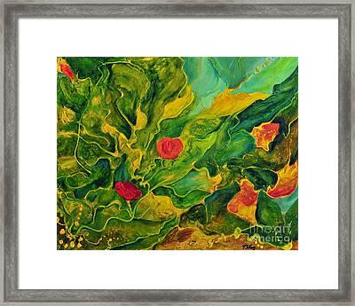 Framed Print featuring the painting Garden Series by Teresa Wegrzyn