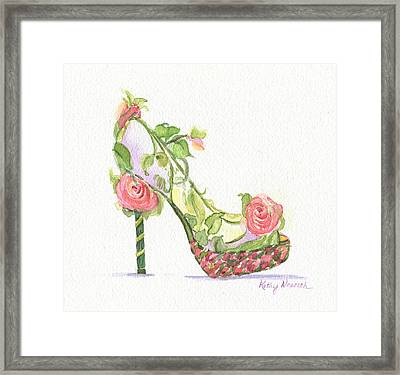Garden Shoe Framed Print by Kathy Nesseth