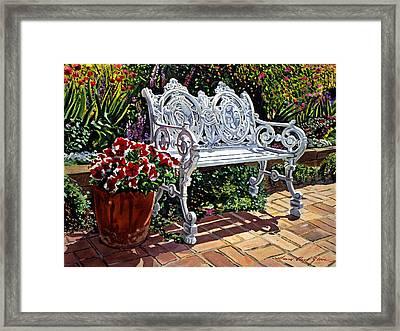 Garden Sitting Place Framed Print by David Lloyd Glover