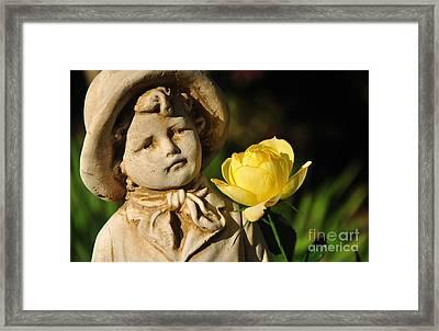 Garden Statue Framed Print by Kaye Menner
