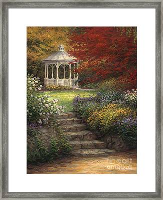 Garden Steps Framed Print by Chuck Pinson