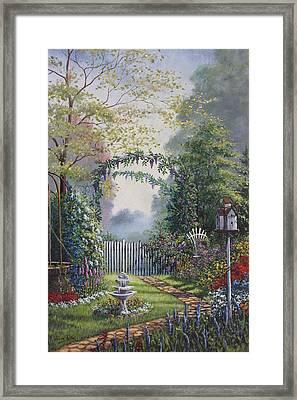 Garden Stroll Framed Print by Diana Miller