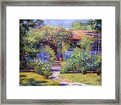 Garden Summer Cottage Framed Print by David Lloyd Glover