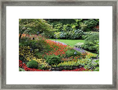 Garden Tapestry 4 Framed Print by Tanya  Searcy